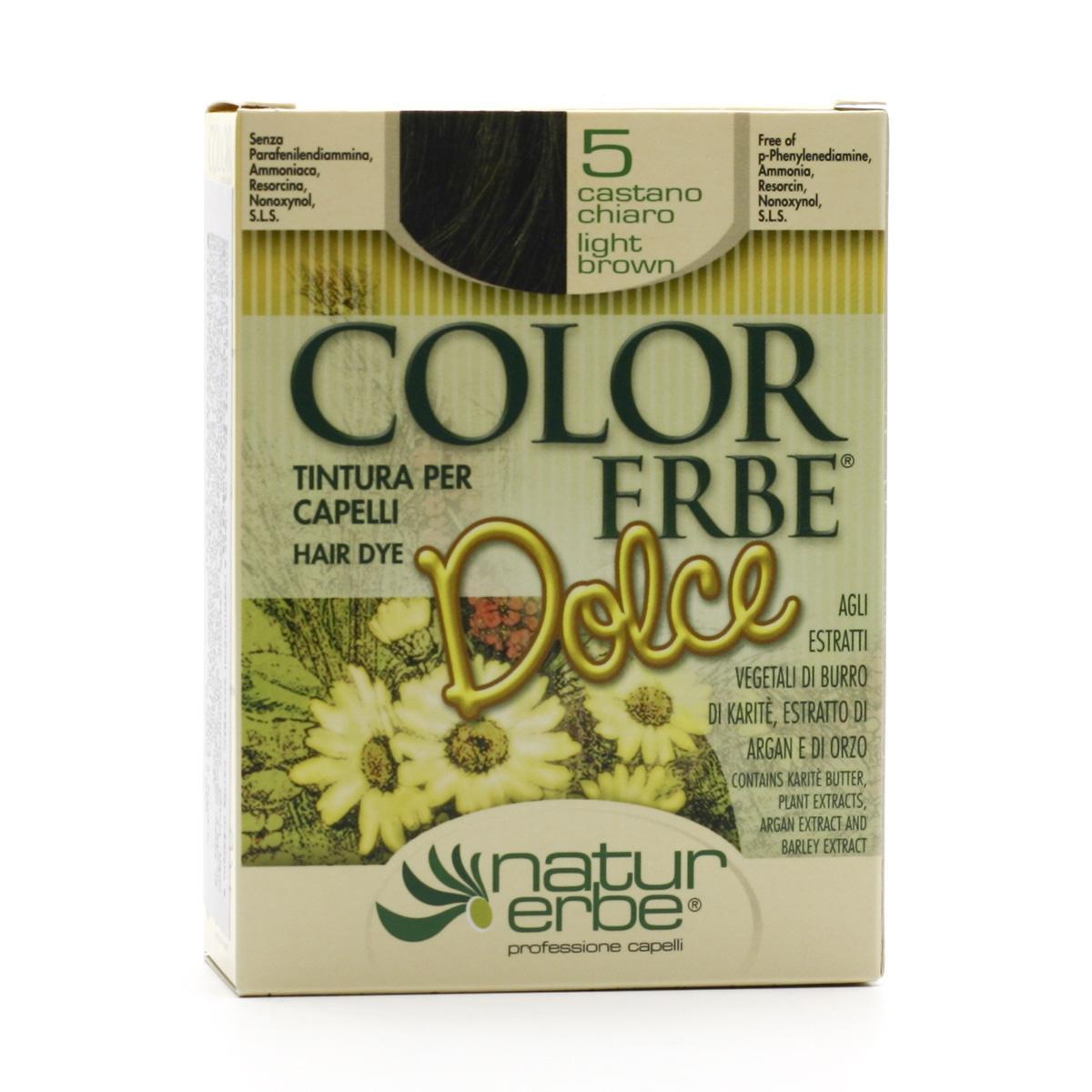 Color Erbe Barva na vlasy Světle hnědá 05, Dolce 135 ml