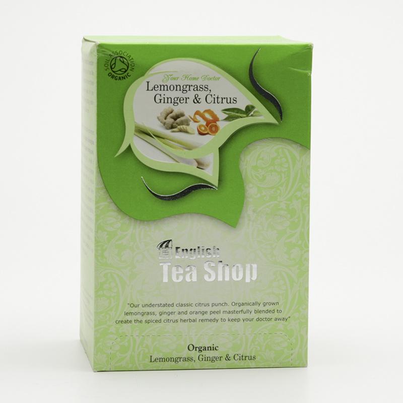 English Tea Shop x Čaj citronová tráva, zázvor a citrusy 20 ks, 30 g