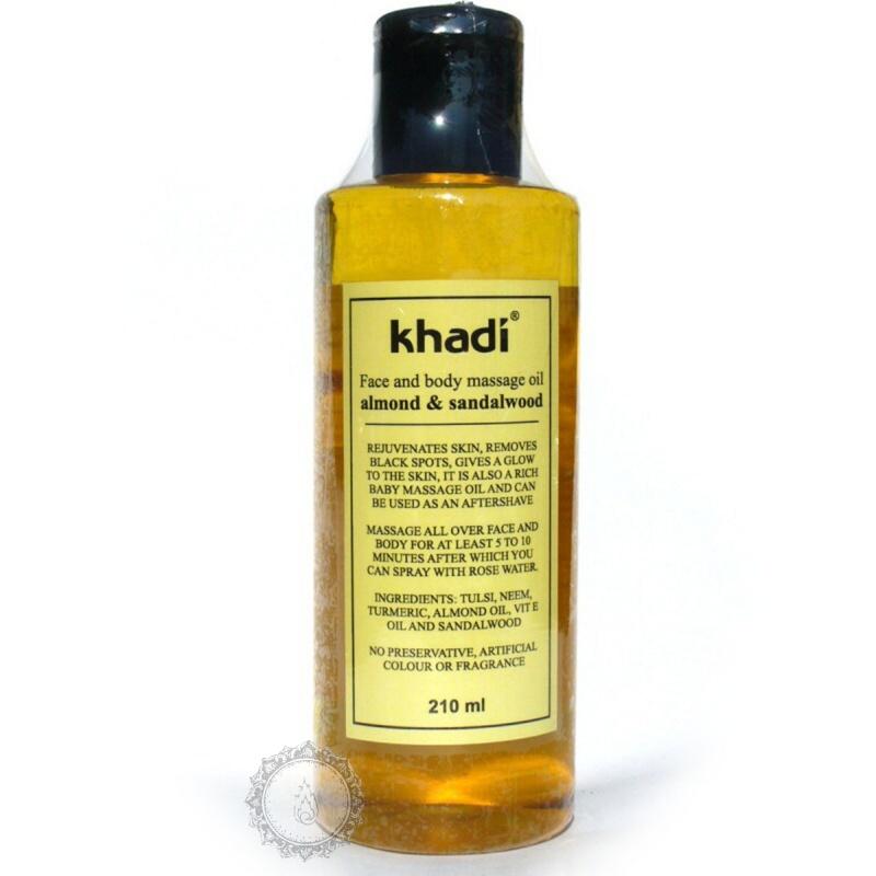 Khadí Pleťový a tělový olej Santalové dřevo & mandle 210 ml