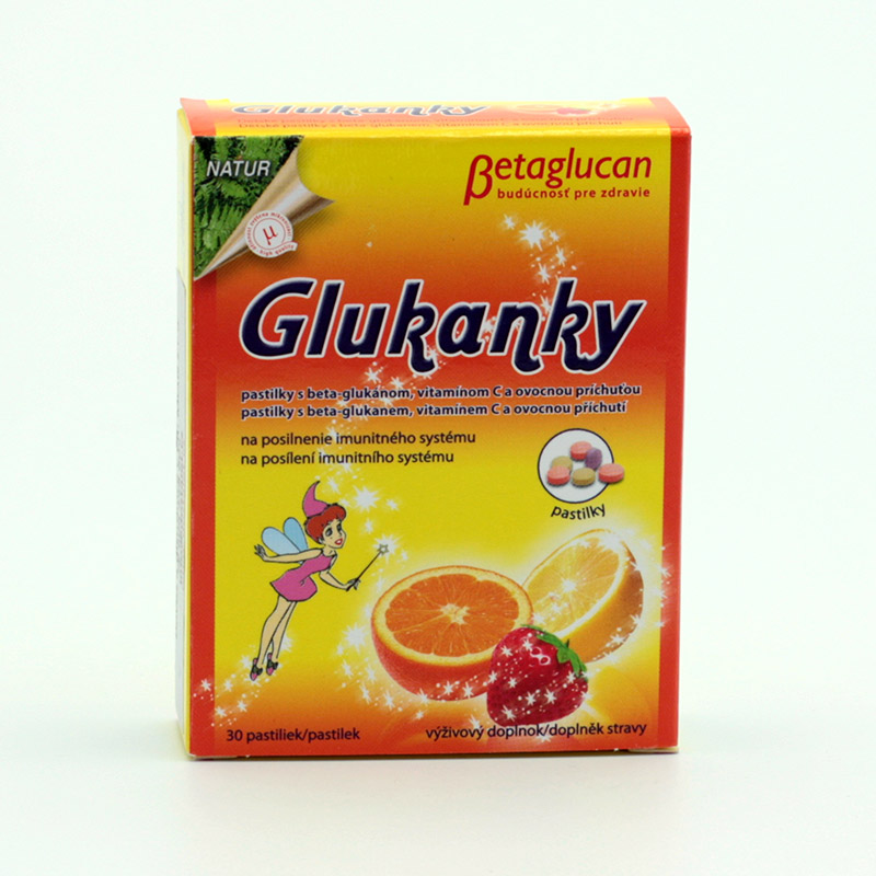 Natures x Glukanky ovoce, s beta glukanem 30 pastilek