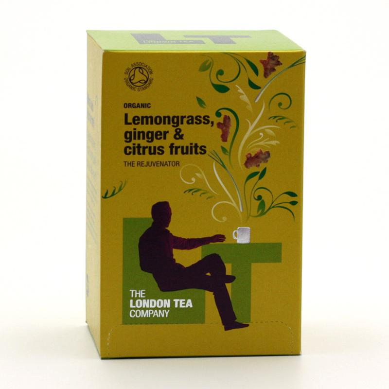 London Tea xxxVýprodej Čaj citronová tráva, zázvor a citrusy 20 ks, 30 g