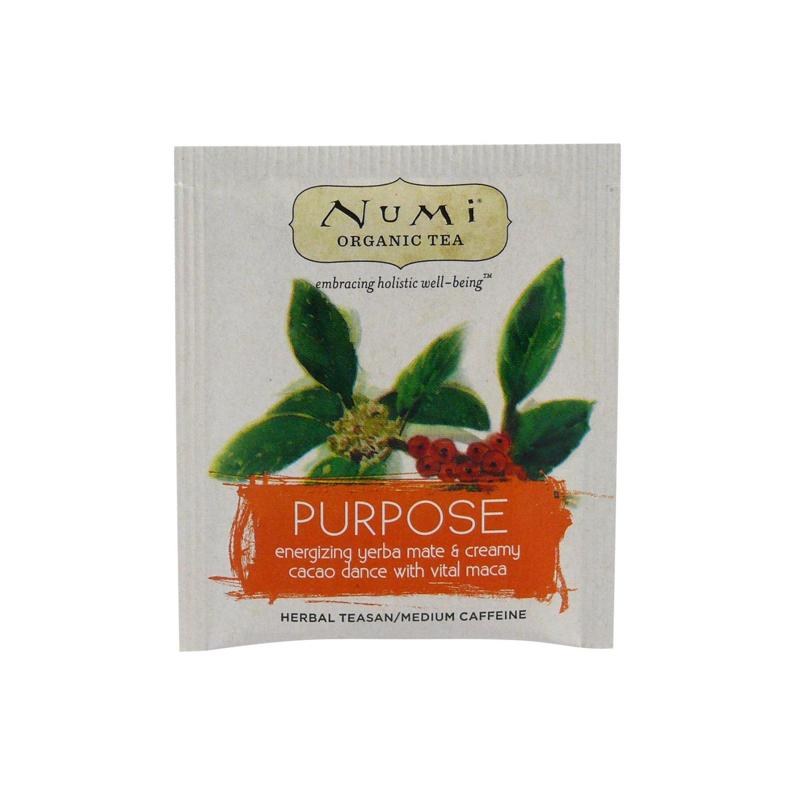 Numi Organic Tea Bylinný čaj Purpose 2,5 g, 1 ks