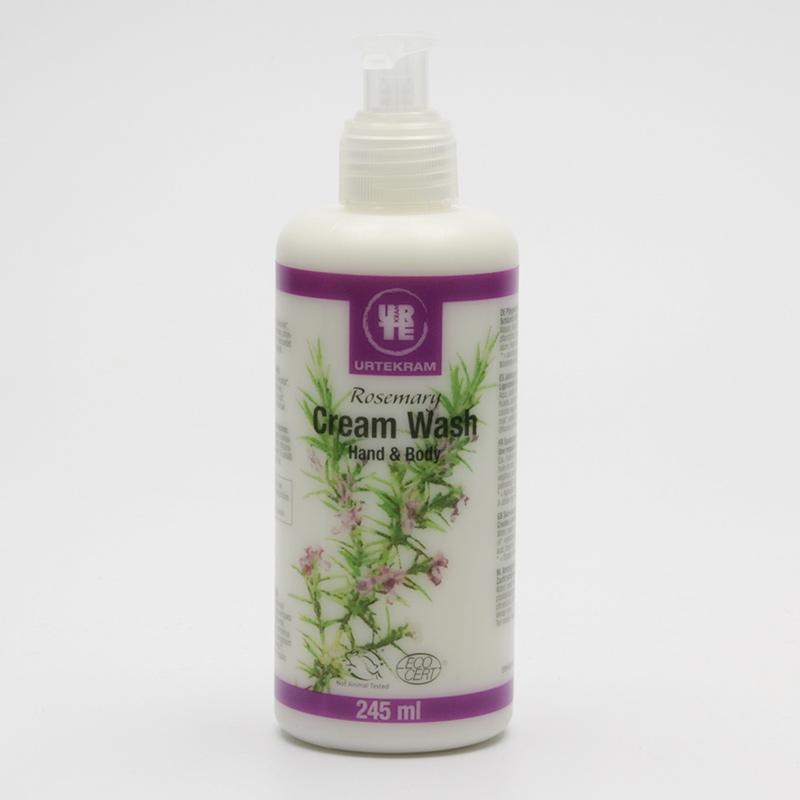 Urtekram Mýdlo krémové tekuté, rozmarýn 245 ml