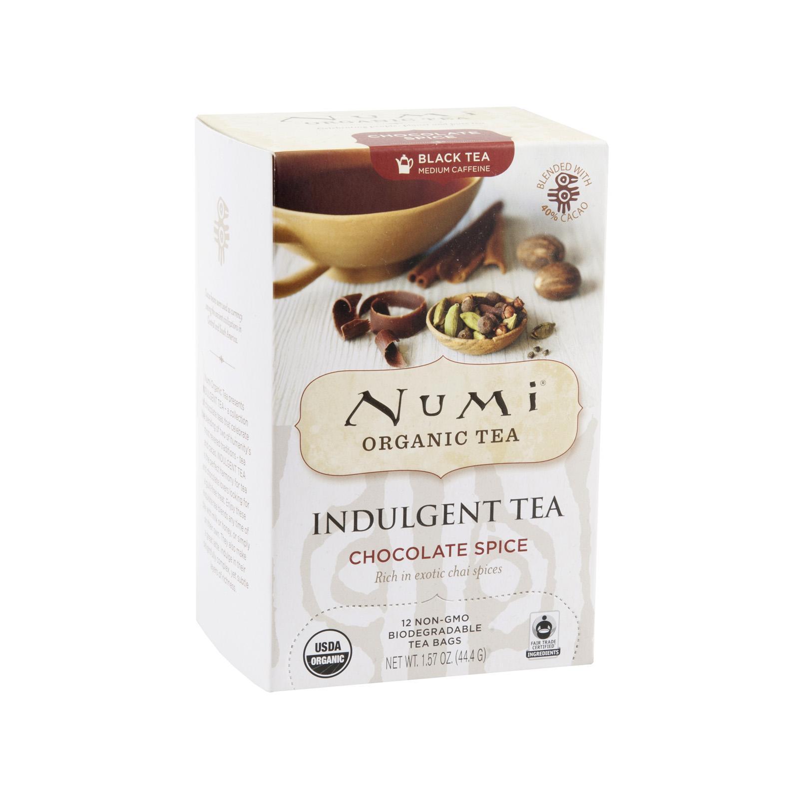 Numi Čokoládový čaj Spice, Indulgent Tea 12 ks, 44,4 g