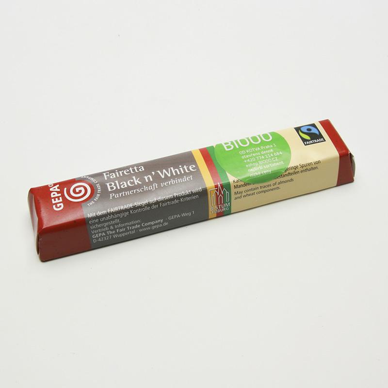 Gepa x Výprodej Čokoláda Bio Fairetta černá a bílá 45 g