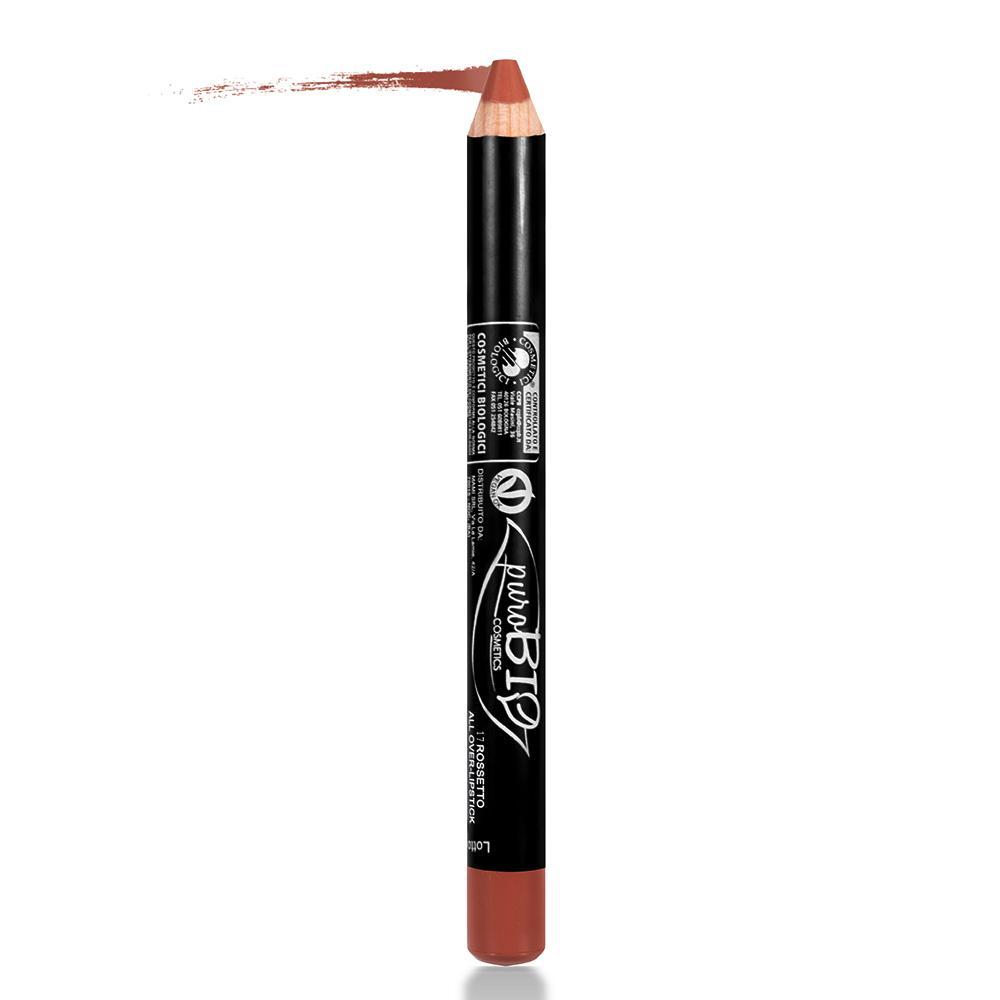 puroBIO cosmetics Tužka na rty 17 Brick 2,3 g