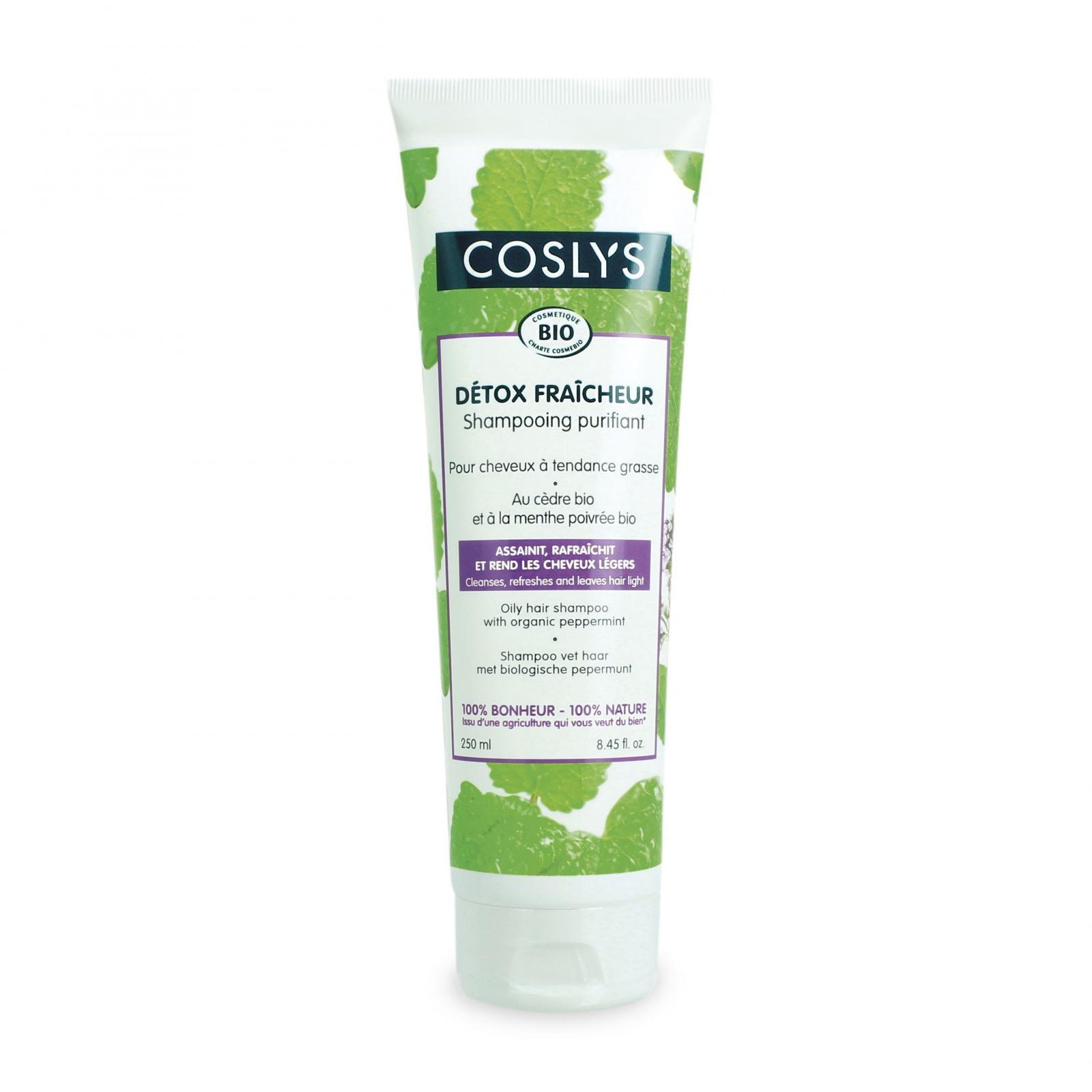 Coslys Šampon pro mastné vlasy máta 250 ml