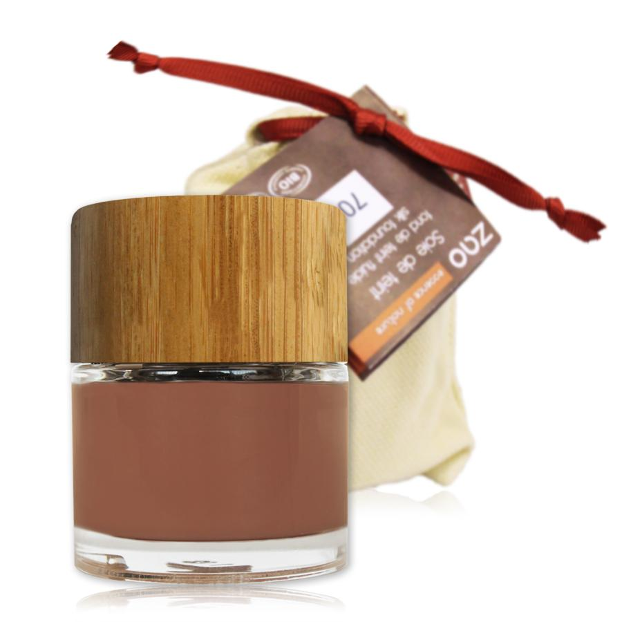 ZAO Hedvábný tekutý make-up 706 Chocolate 30 ml bambusový obal