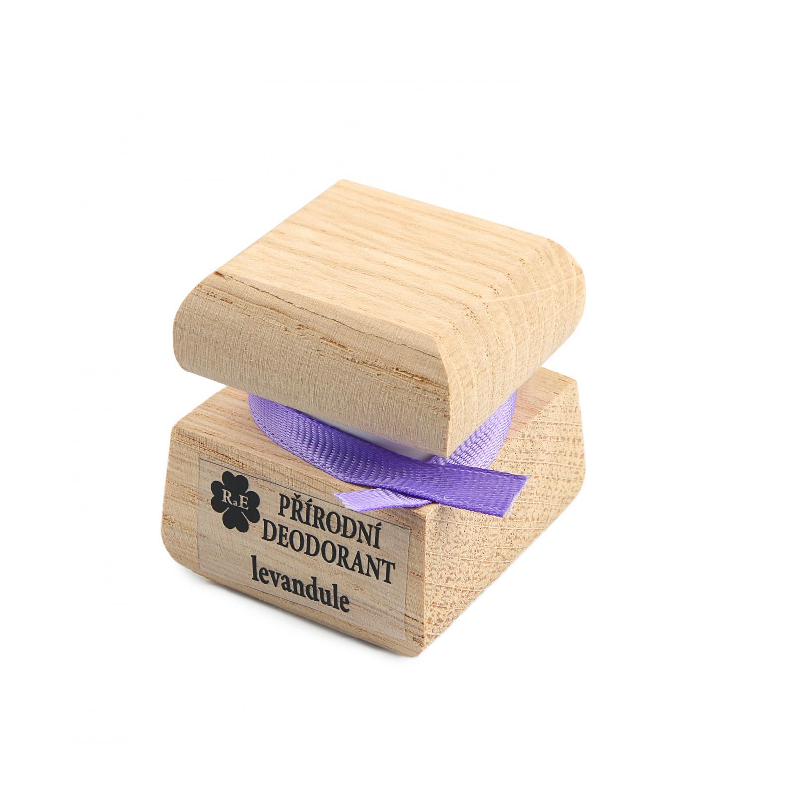 RaE Přírodní krémový deodorant s vůní levandule 15 ml dřevěný obal
