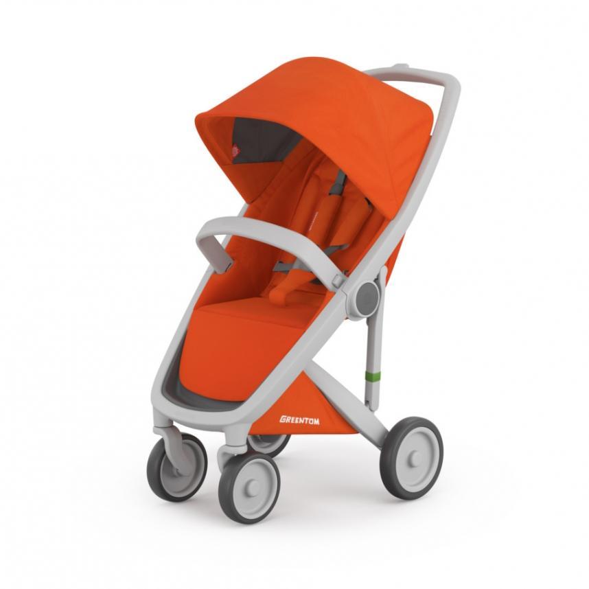 GreenTom Dětský kočárek UPP Classic, šedý rám 1 ks, oranžový