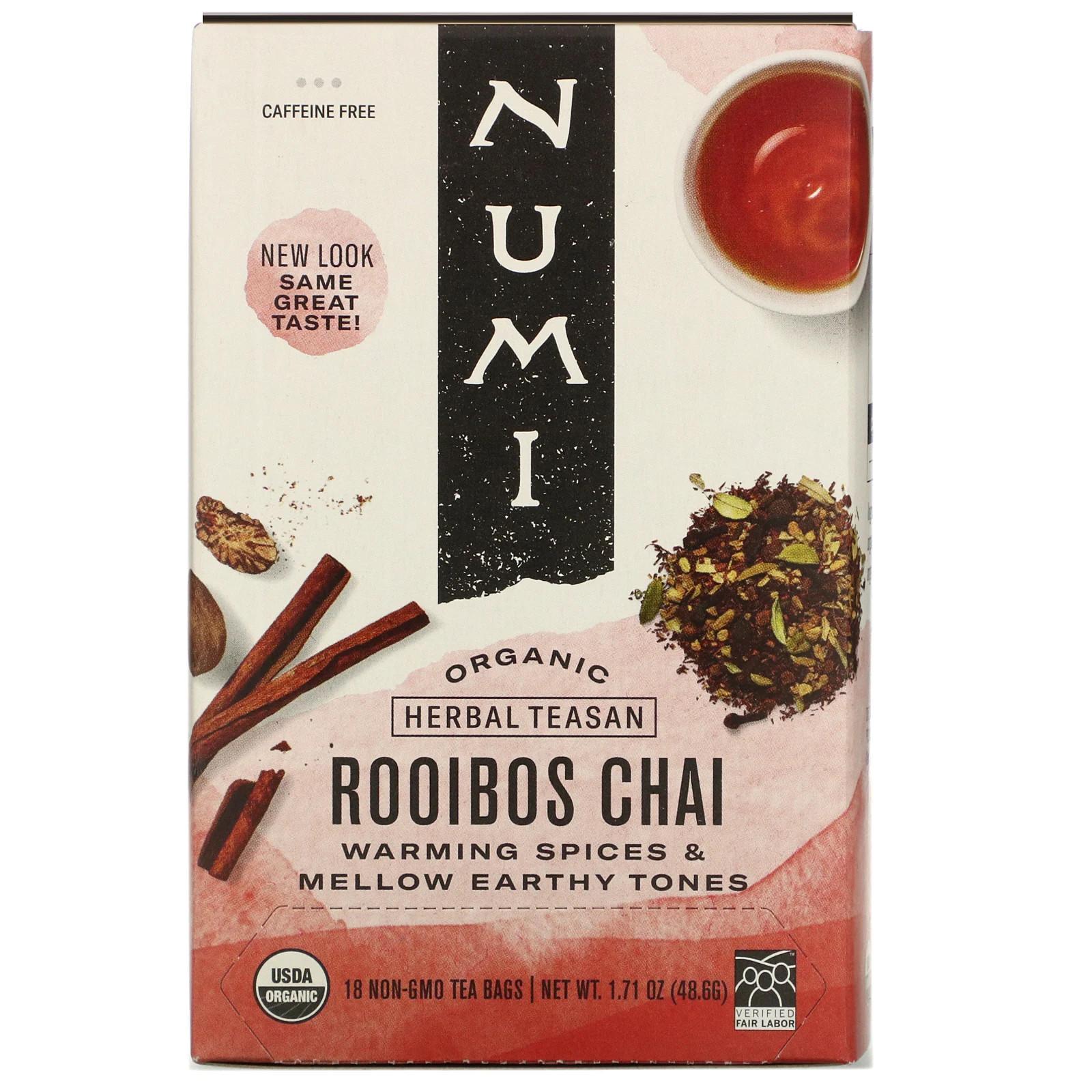 Numi Organic Tea Rooibos Chai 48,6 g, 18 ks
