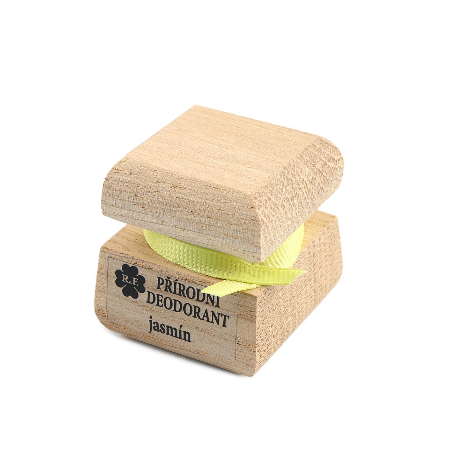 RaE Přírodní krémový deodorant s vůní jasmínu 15 ml dřevěný obal