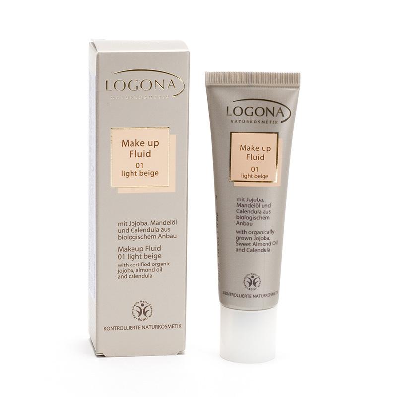 Logona x Make-up fluid 01, Light Beige  30 ml
