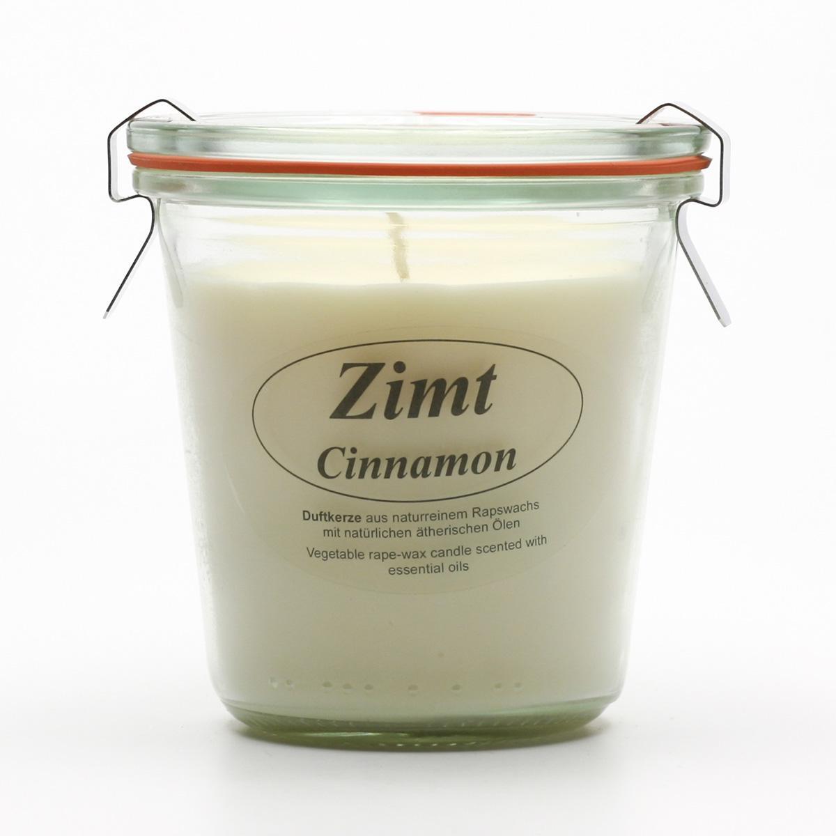 Kerzenfarm Přírodní svíčka Cinnamon, čiré sklo 8,7 cm
