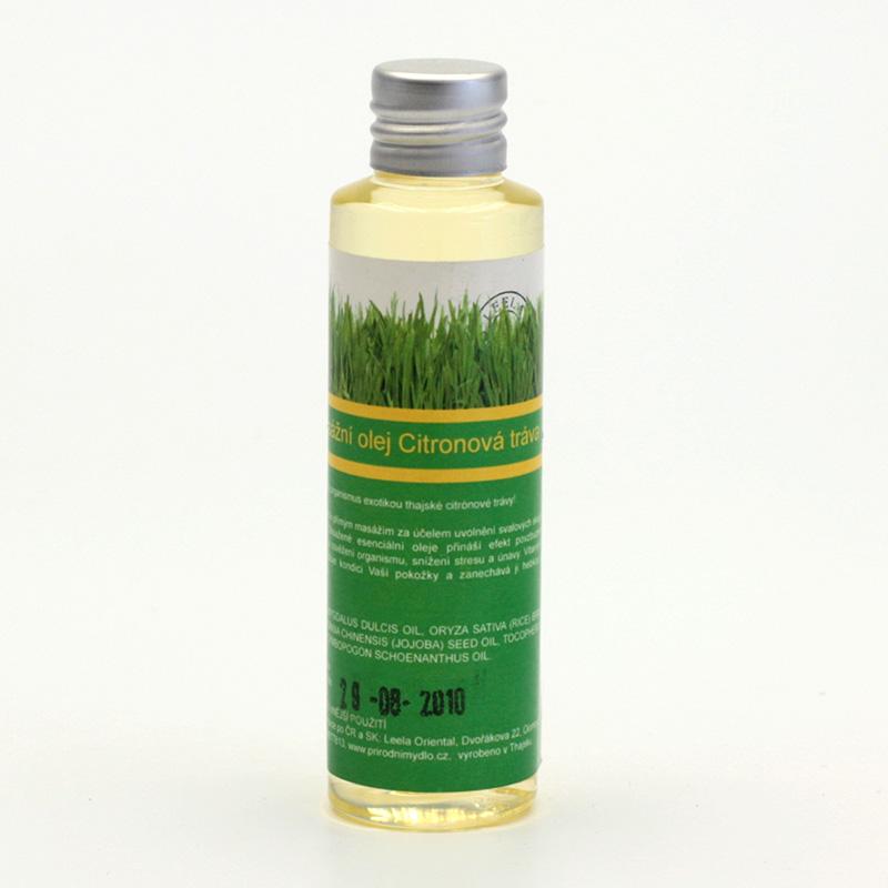 Přírodní mýdlo Masážní olej citronová tráva 50 ml