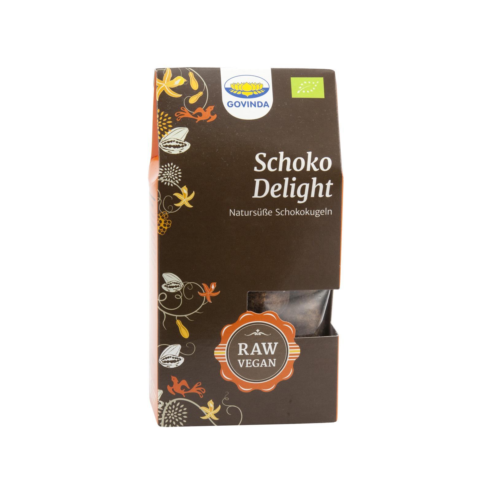 Govinda Datlové raw cukroví čokoládové Delight, Bio 120 g