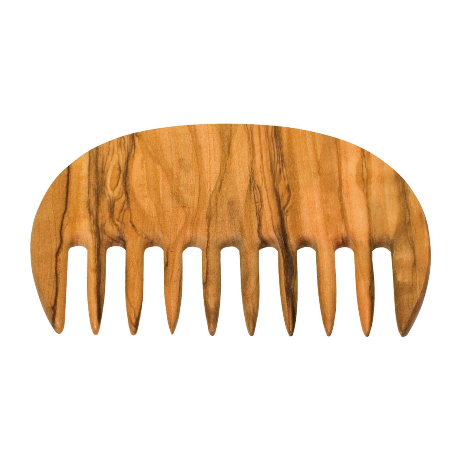 Redecker Hřeben z olivového dřeva Afro Comb 1 ks, 10,5 cm