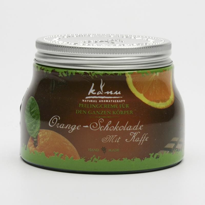 Kanu  ZRUŠENO Tělový peeling pomeranč, čokoláda a káva 350 g