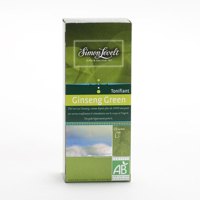 Simon Levelt Čaj Gingseng Green, 100% organic