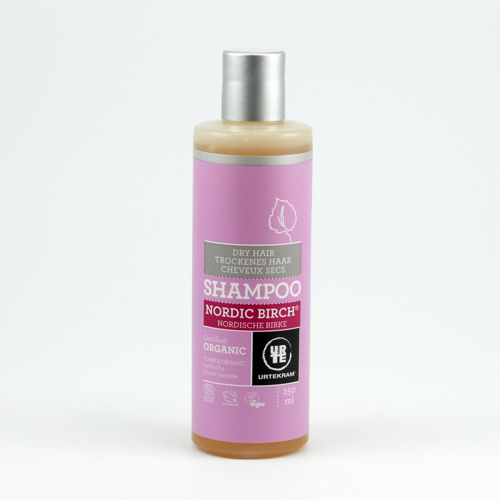 Urtekram Šampon na suché vlasy, Severská bříza 250 ml