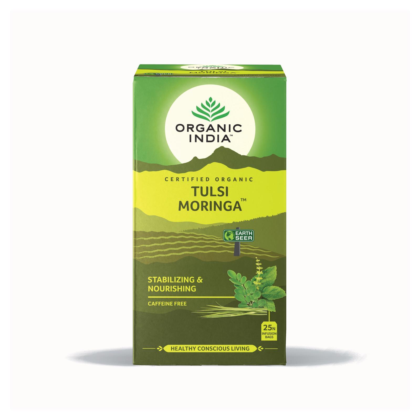 Organic India Čaj Tulsi Moringa, bio 36 g, 25 ks