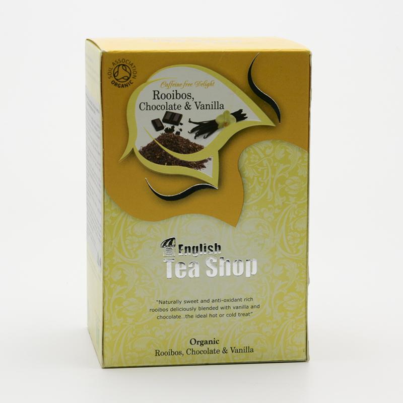 English Tea Shop x Čaj rooibos čokoláda a vanilka 20 ks, 40 g