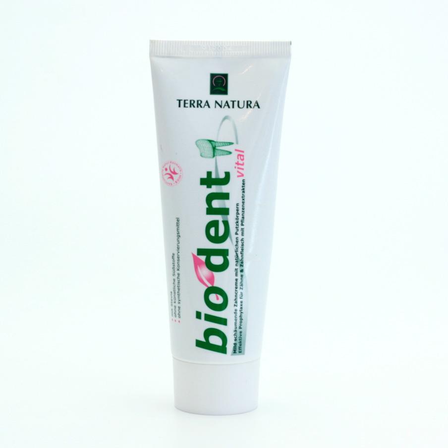 Terra Natura BioDent Vital zubní pasta se zeleným jílem 75 ml
