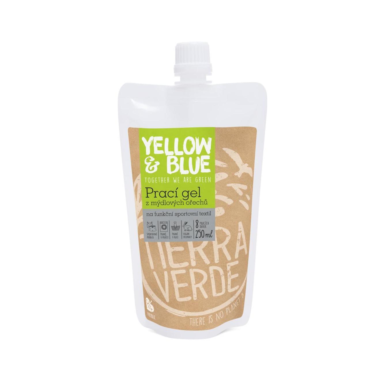 Yellow and Blue Prací gel z mýdlových ořechů Sport s koloidním stříbrem 250 ml