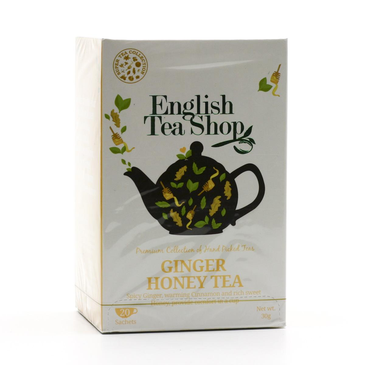 English Tea Shop Černý čaj zázvor a med 20 ks