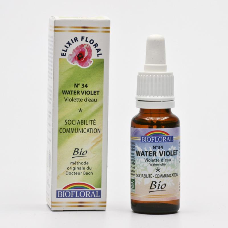 Biofloral Esence Water Violet, květy Dr. Bach 20 ml