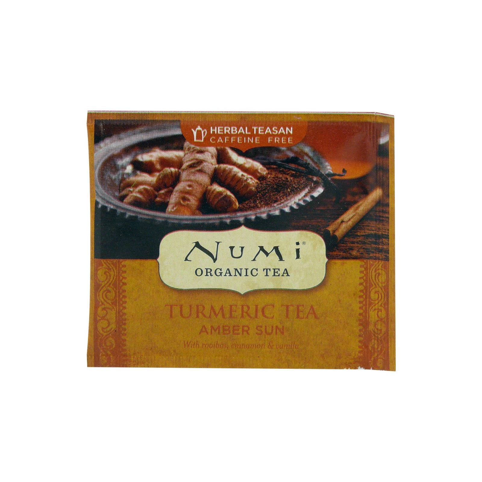 Numi Organic Tea Kořeněný čaj Amber Sun, Turmeric Tea 3,45 g, 1 ks