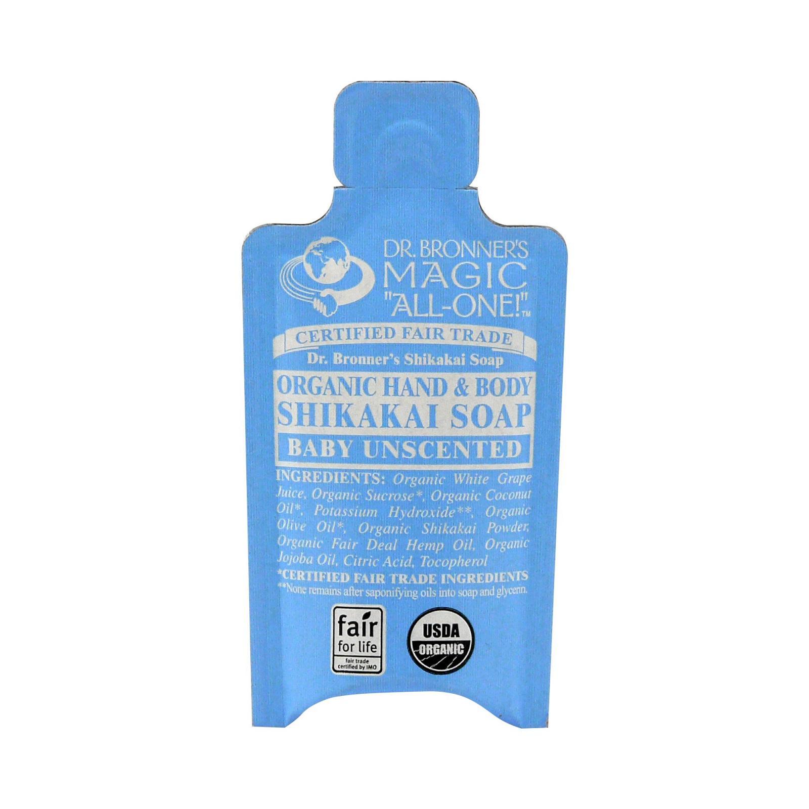 Dr. Bronner's Tekuté mýdlo na tělo i vlasy Shikakai, Baby-Mild 10 ml