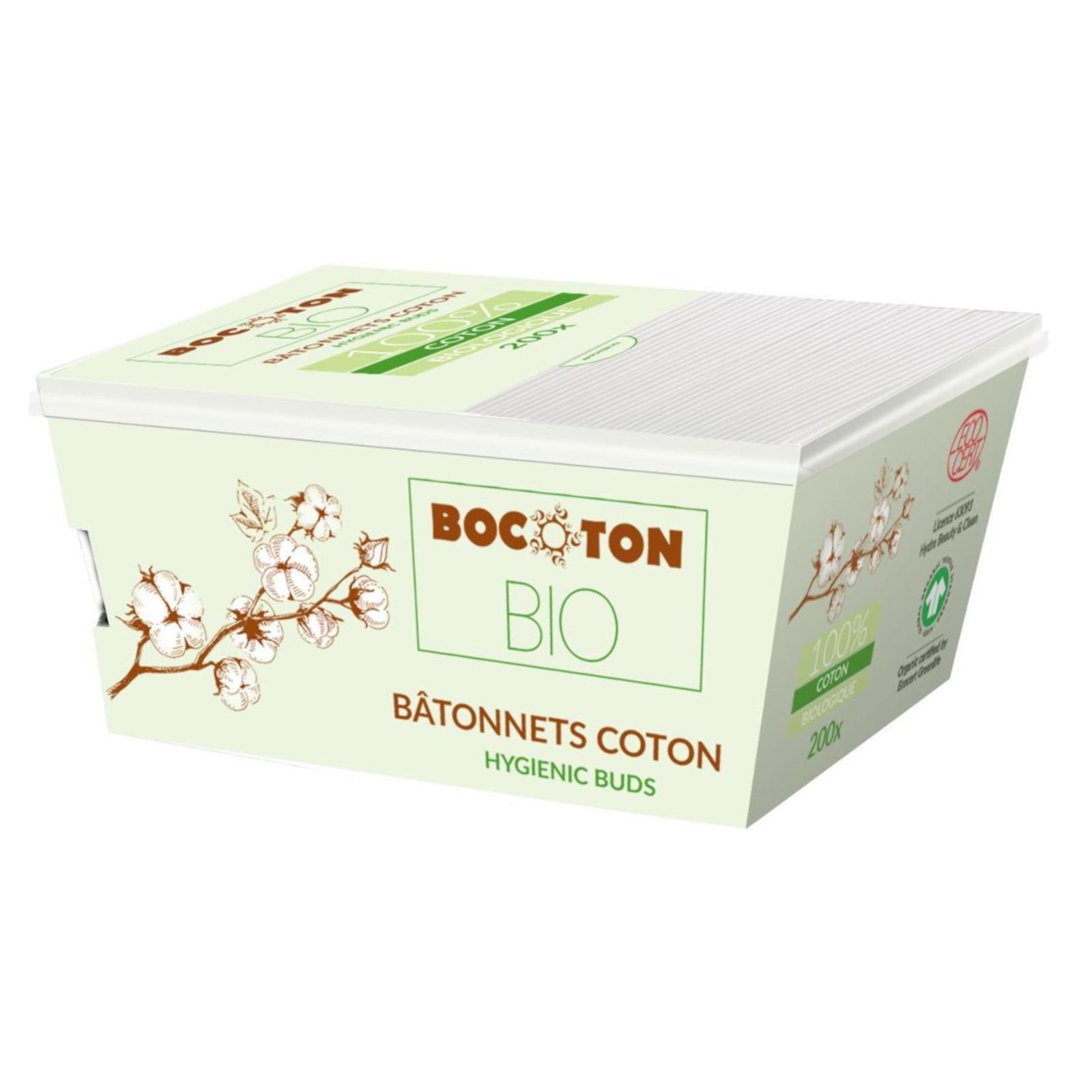 Bocoton Vatové tyčinky do uší z biobavlny, cotton buds 200 ks