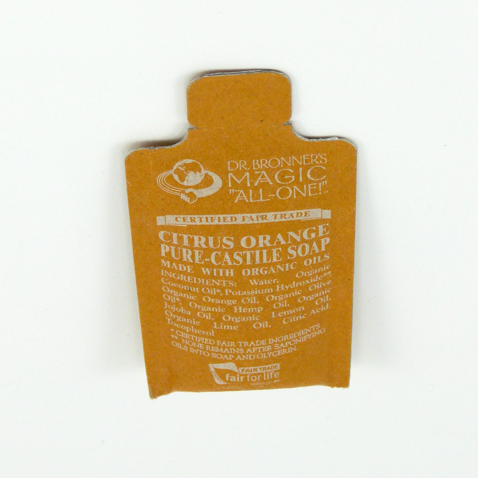 Dr. Bronner's Tekuté universální mýdlo ALL-ONE!, Citrus-Orange 10 ml