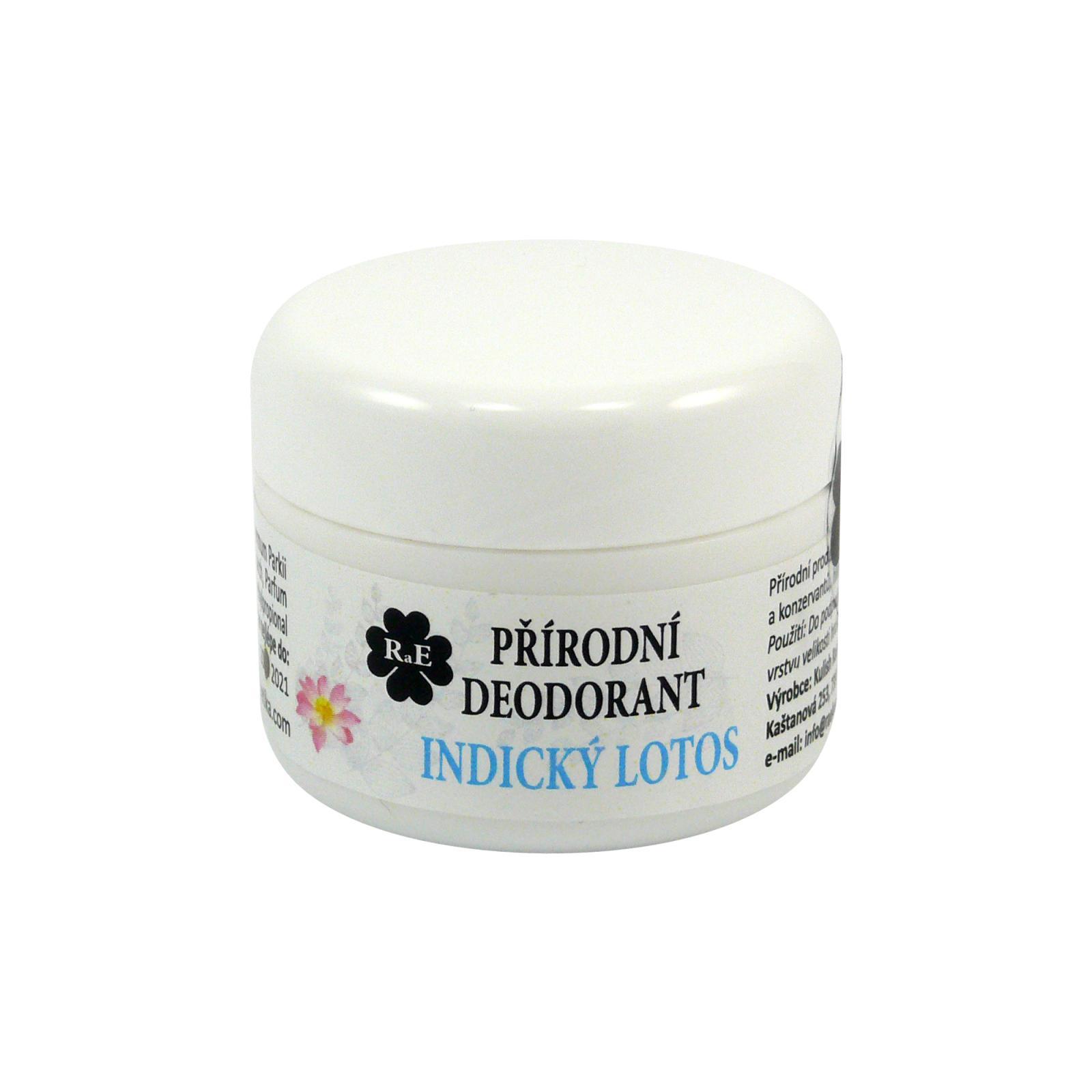 RaE Přírodní krémový deodorant s vůní indického lotosu 15 ml náplň