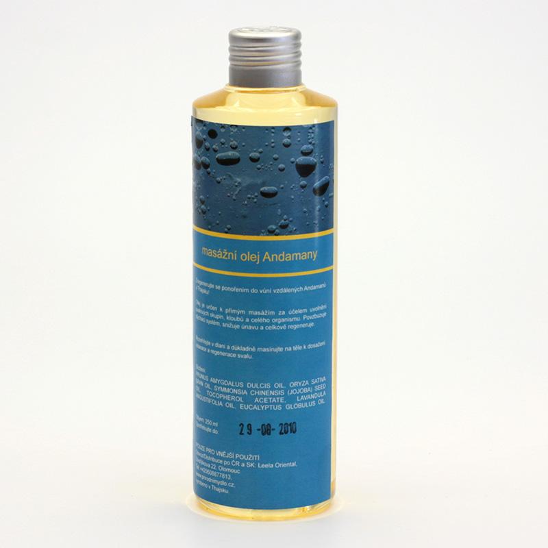 Přírodní mýdlo Masážní olej Andamany 250 ml