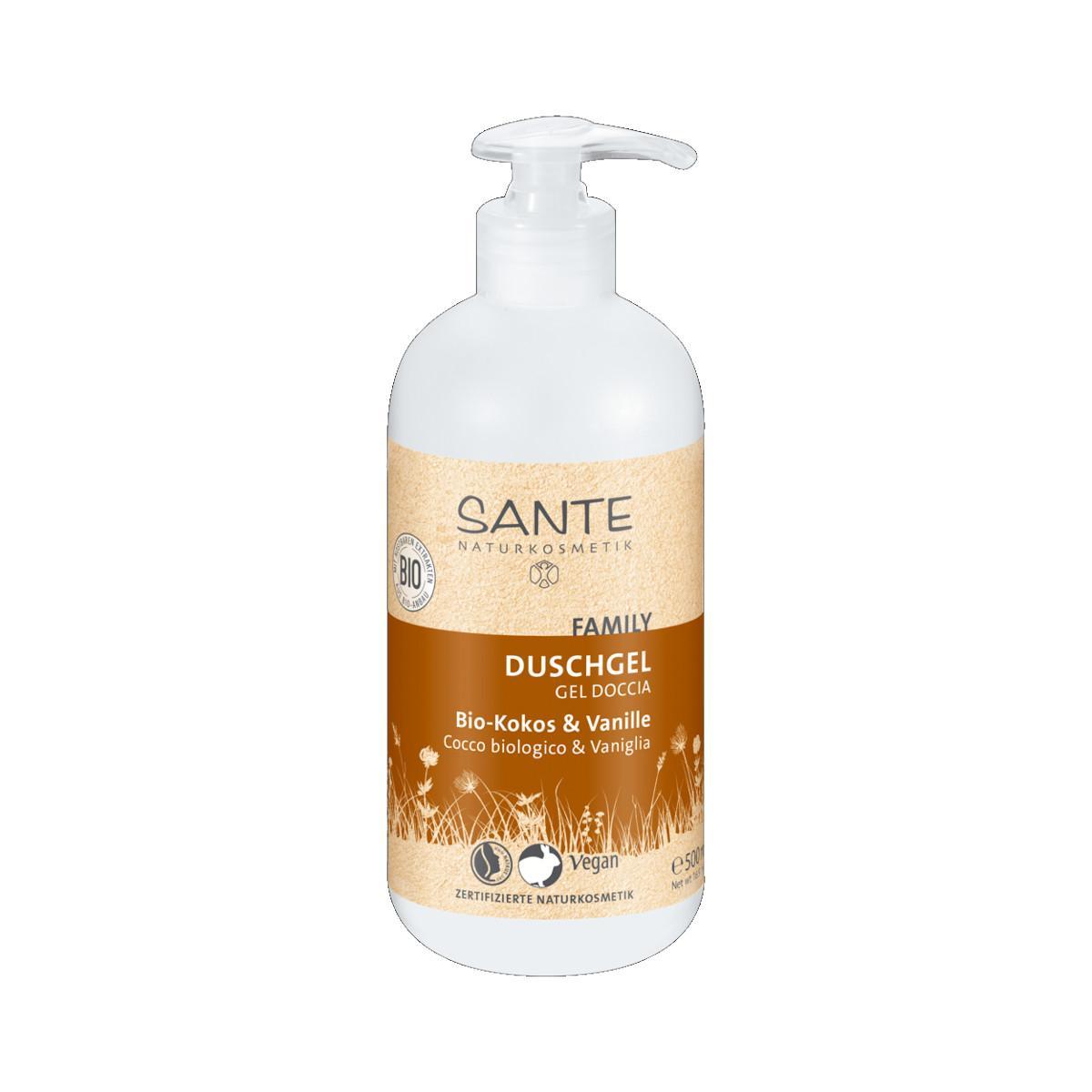 Santé Sprchový gel bio kokos a vanilka, Family 500 ml