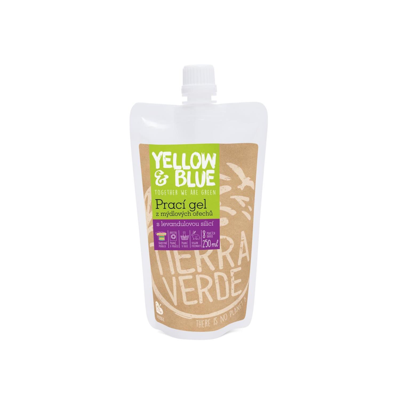 Yellow and Blue Prací gel z mýdlových ořechů levandule 250 ml