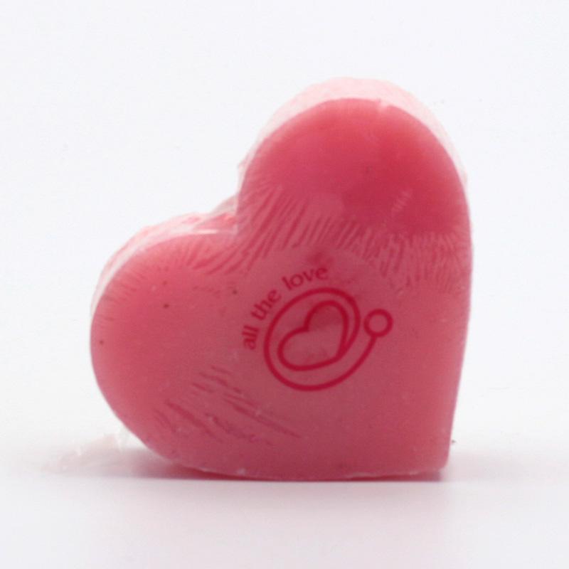 Přírodní mýdlo Mýdlo srdce ibišek 70 g
