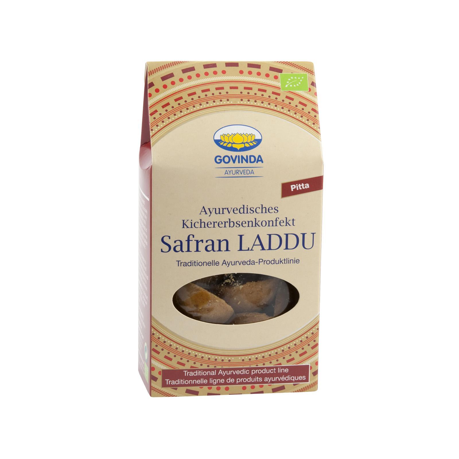 Govinda Ajurvédské cukroví Laddu se šafránem, Pitta, Bio 120 g