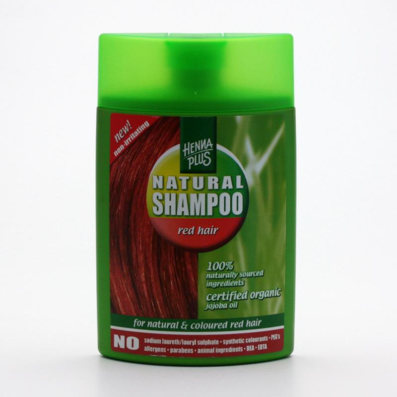 Henna Plus Šampon pro barvené vlasy, odstíny červené, zrzavé 200 ml