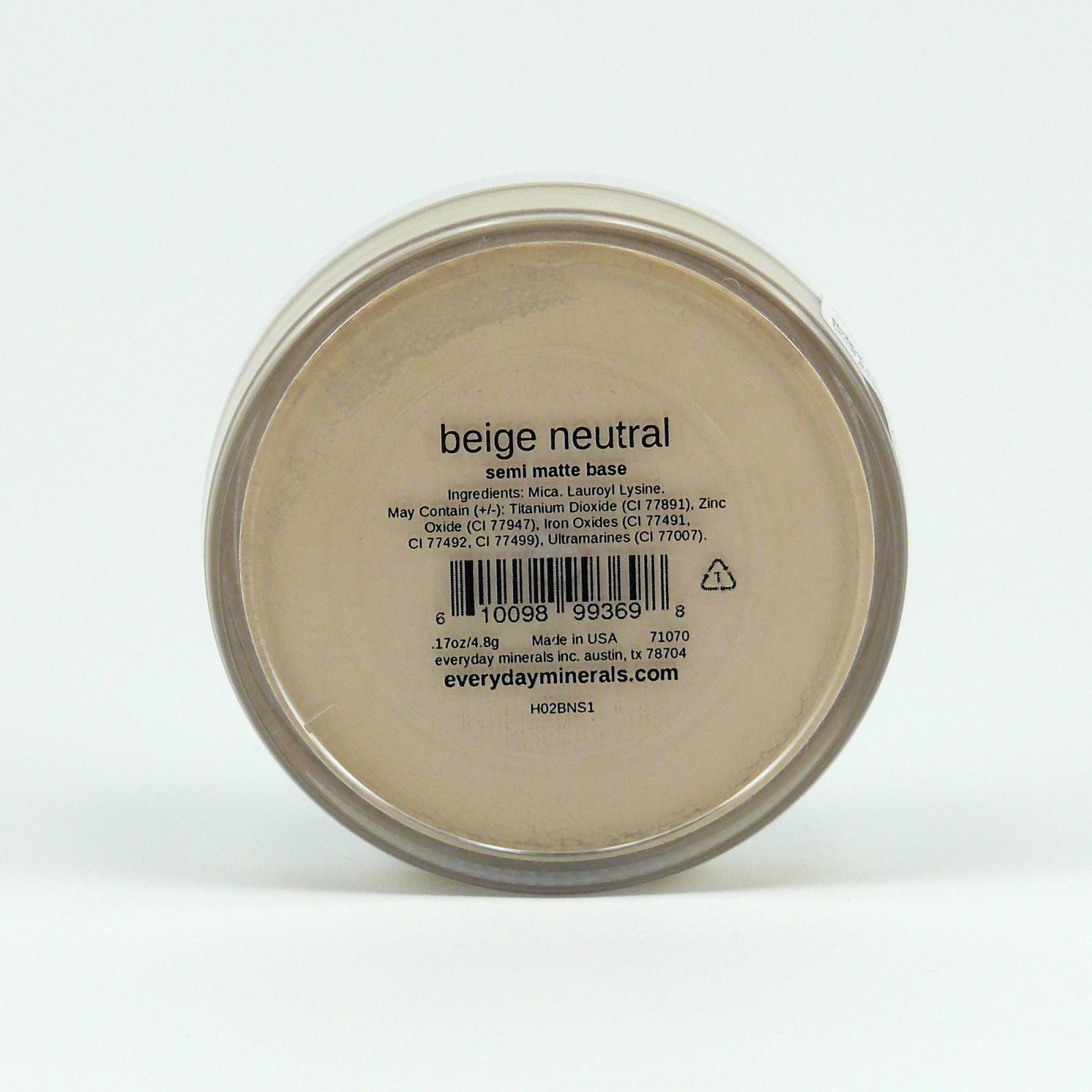 Everyday Minerals Minerální make-up Beige Neutral, Semi-matte 4,8 g