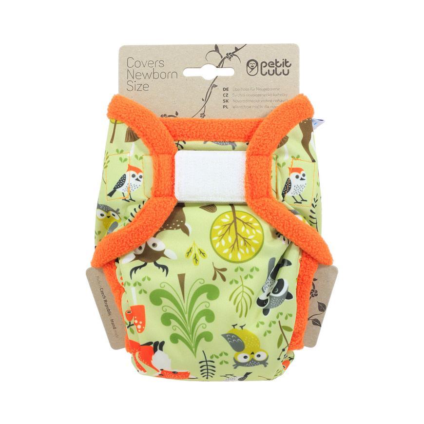 Petit Lulu Svrchní kalhotky novorozenecké 1 ks, lesní zvířátka