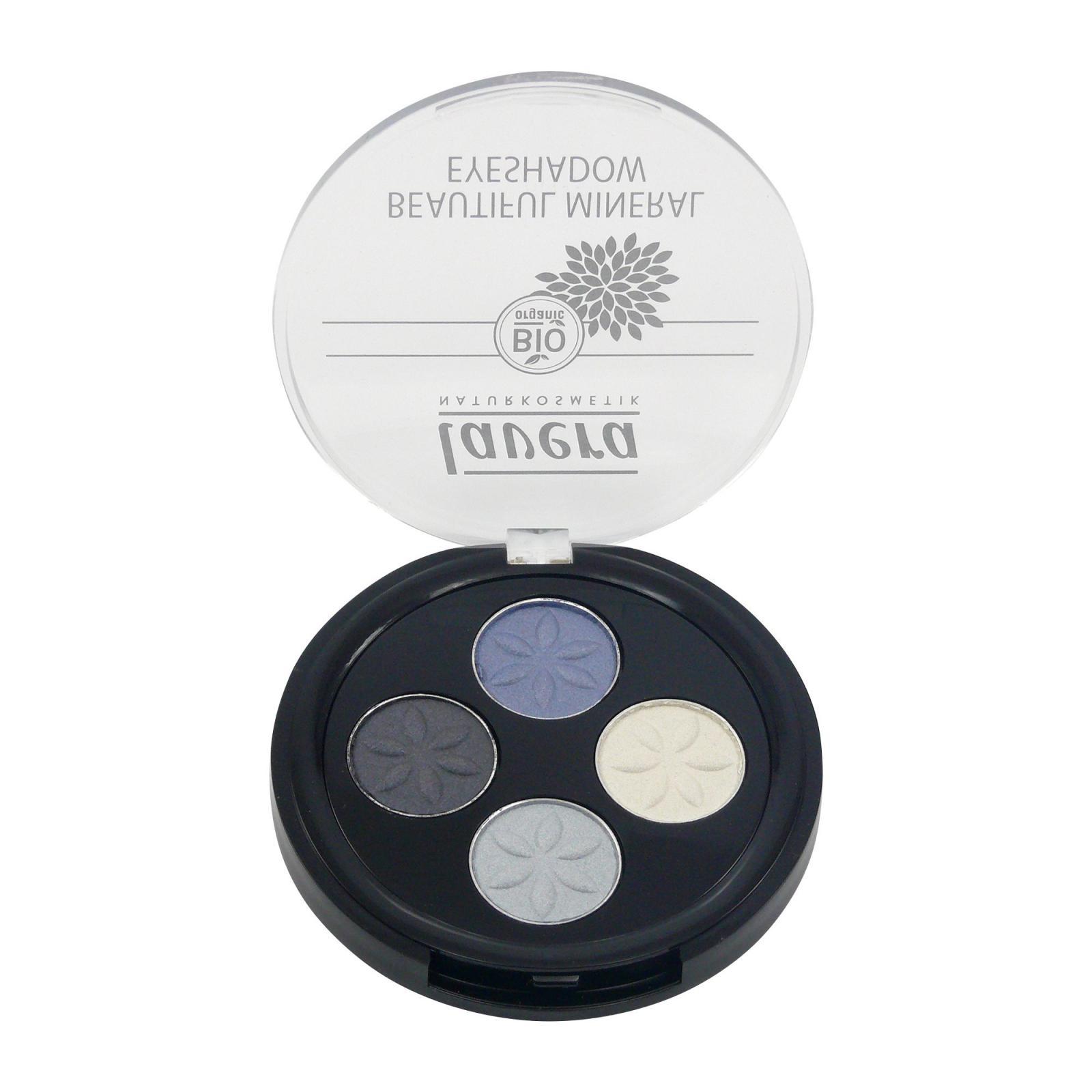 Lavera Oční stíny QUATRO 07 modrá platina, Trend Sensitiv 3,2 g