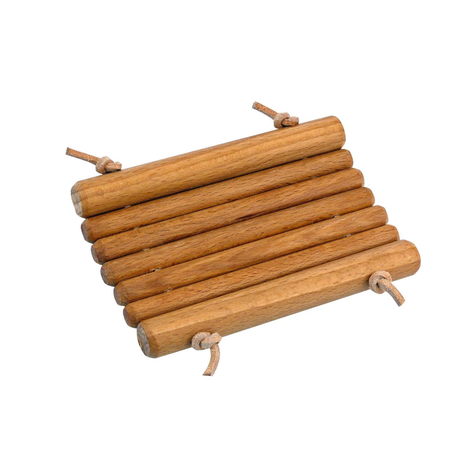 Redecker Mýdlenka z bukového dřeva s koženým provázkem 1 ks