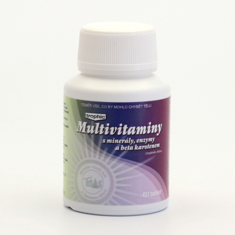 Klas x Multivitaminy s minerály, enzymy a beta karotenem 60 tablet