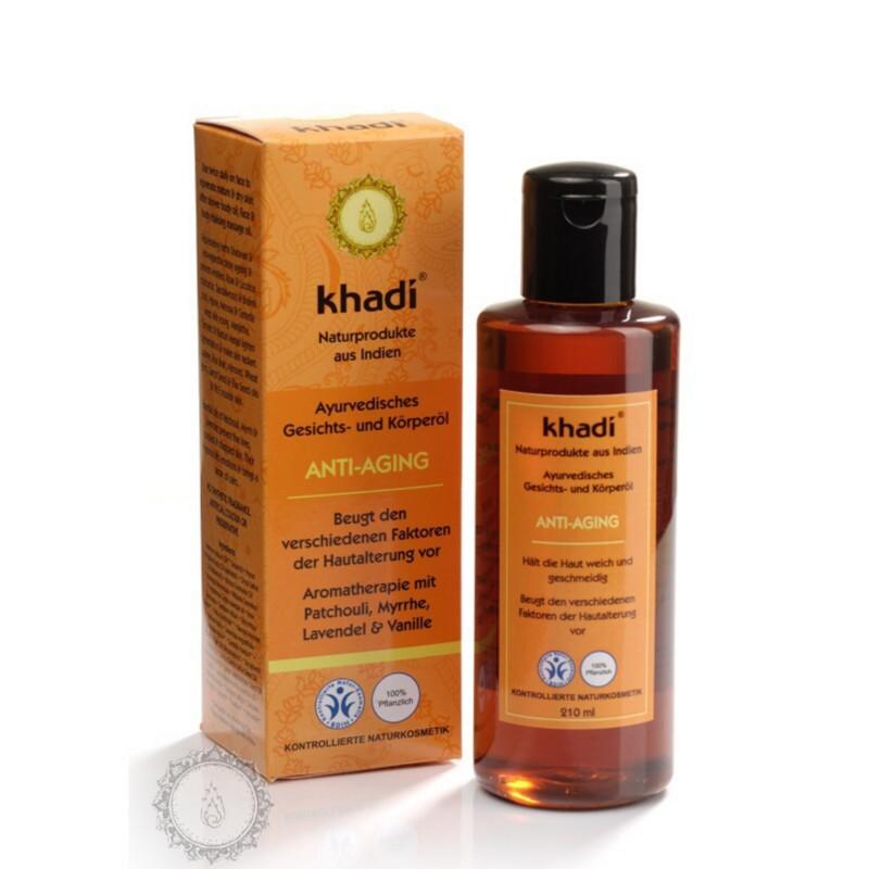 Khadí Pleťový a tělový olej Anti Aging - proti stárnutí 210 ml