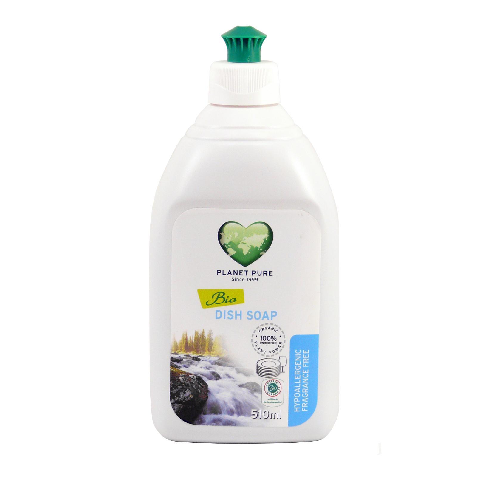 Planet Pure Gel na mytí nádobí bez parfemace 510 ml