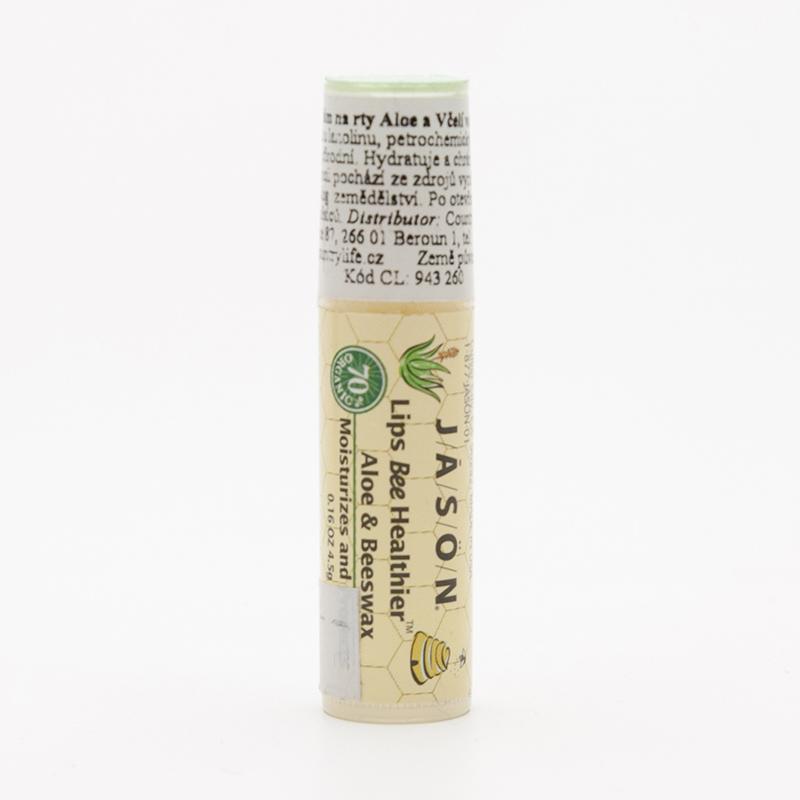 Jason Balzám na rty aloe vera a včelí vosk 4,5 g