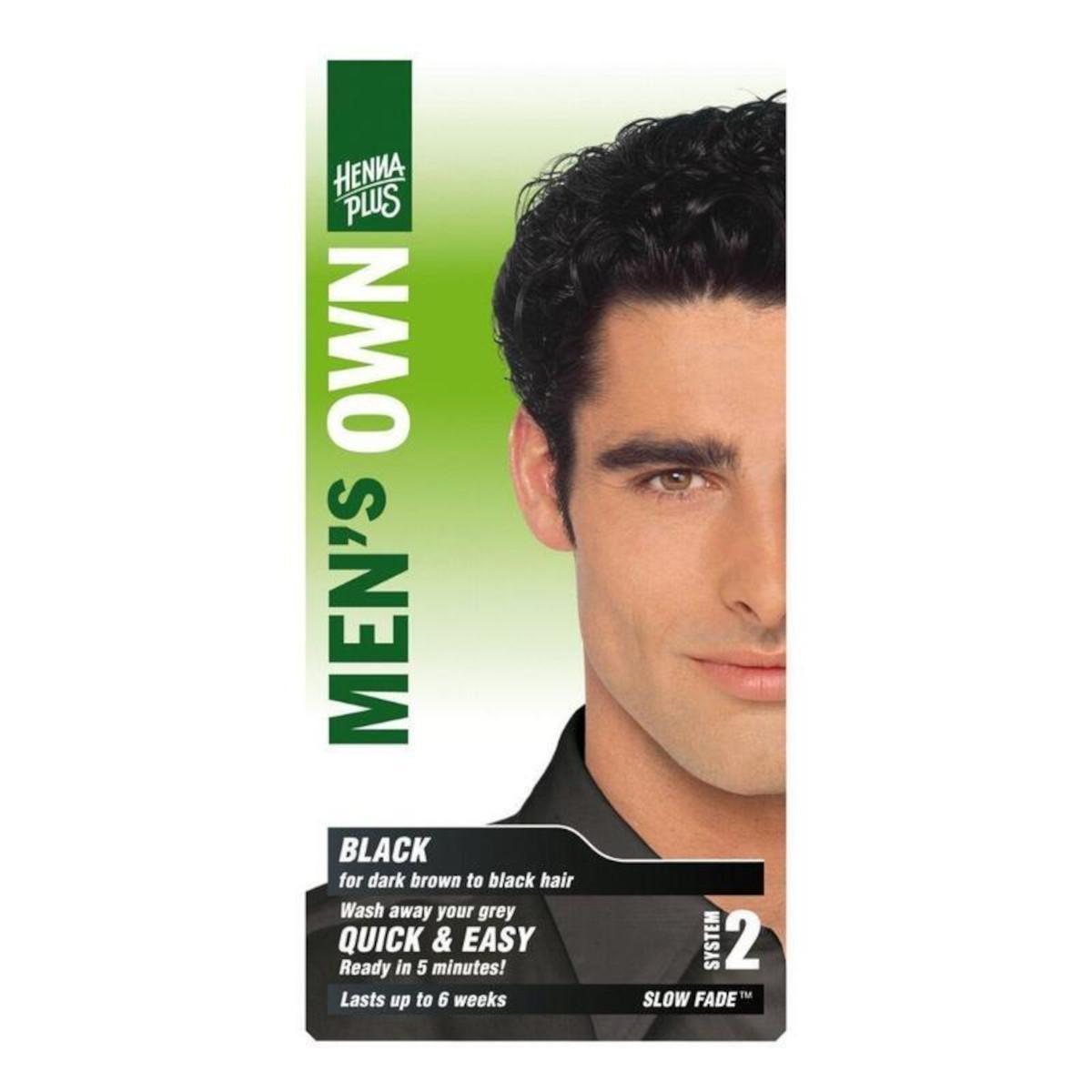 Henna Plus Barva pro muže Černá 80 ml
